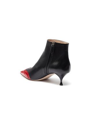 - MIU MIU - Contrast patent toecap leather ankle boots