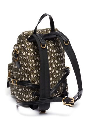 Detail View - Click To Enlarge - MIU MIU - Logo print jacquard backpack