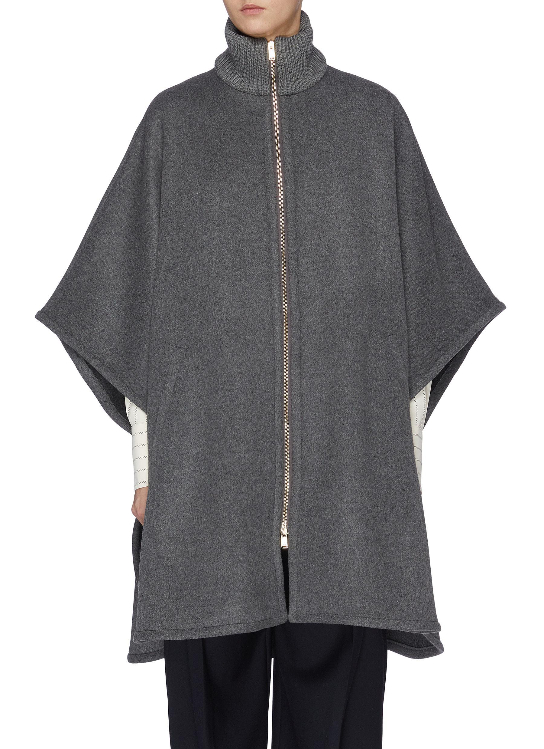 Caban wool turtleneck coat by Stella Mccartney