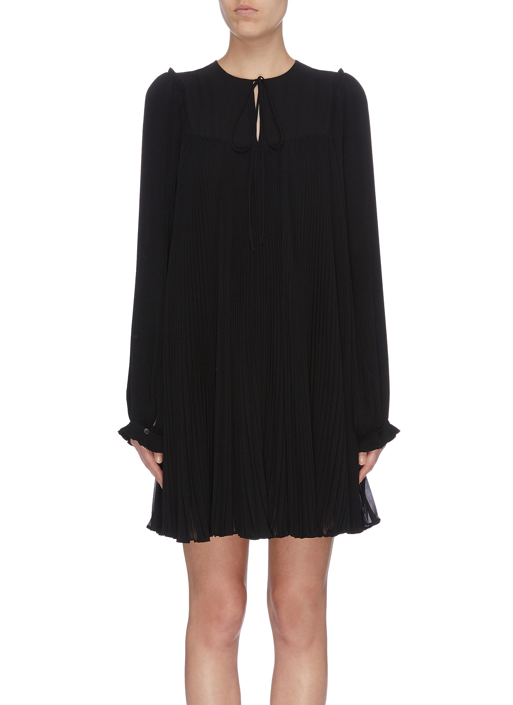 Pleated georgette dress by Stella Mccartney