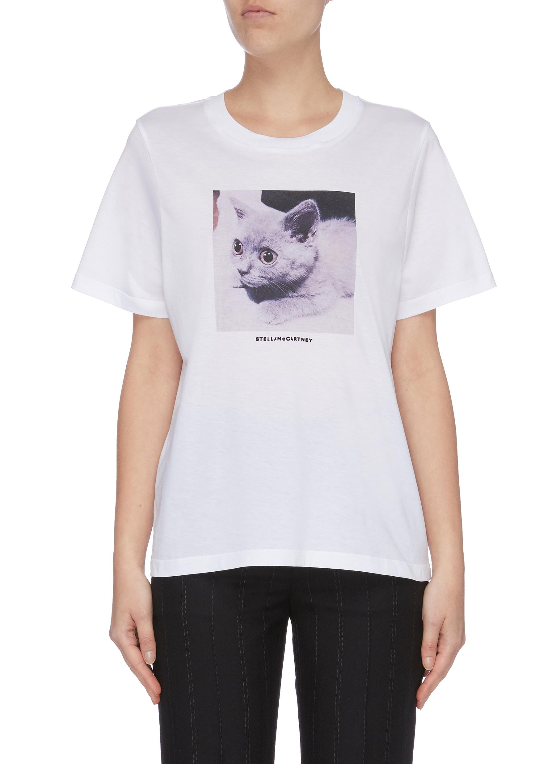 Kitten graphic print T-shirt by Stella Mccartney