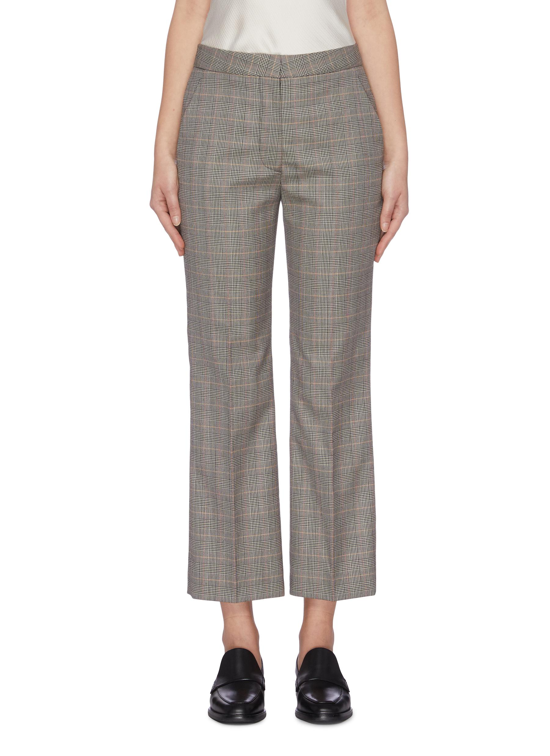 Houndstooth check plaid suiting pants by Stella Mccartney