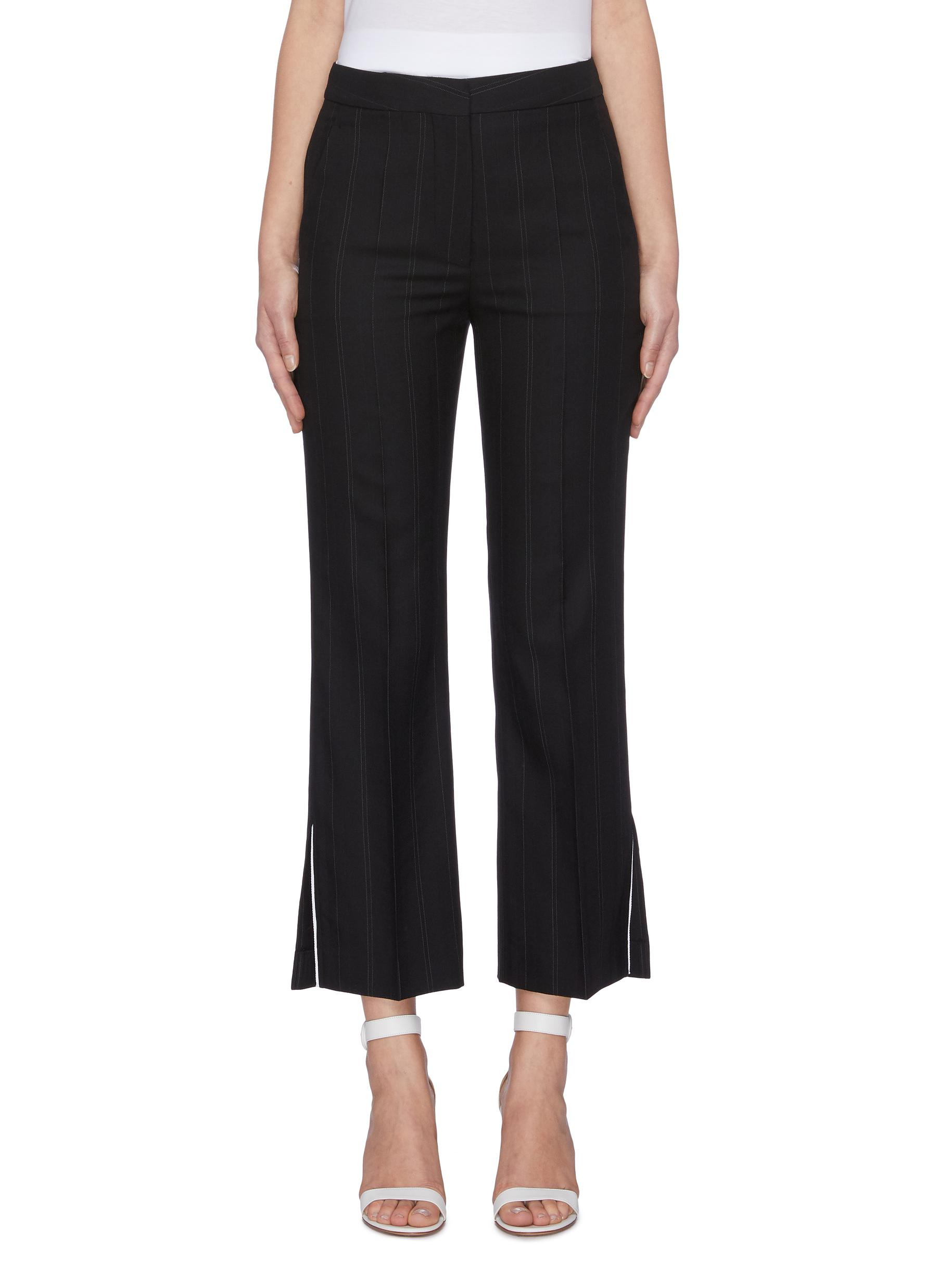Pinstripe flared suiting pants by Stella Mccartney