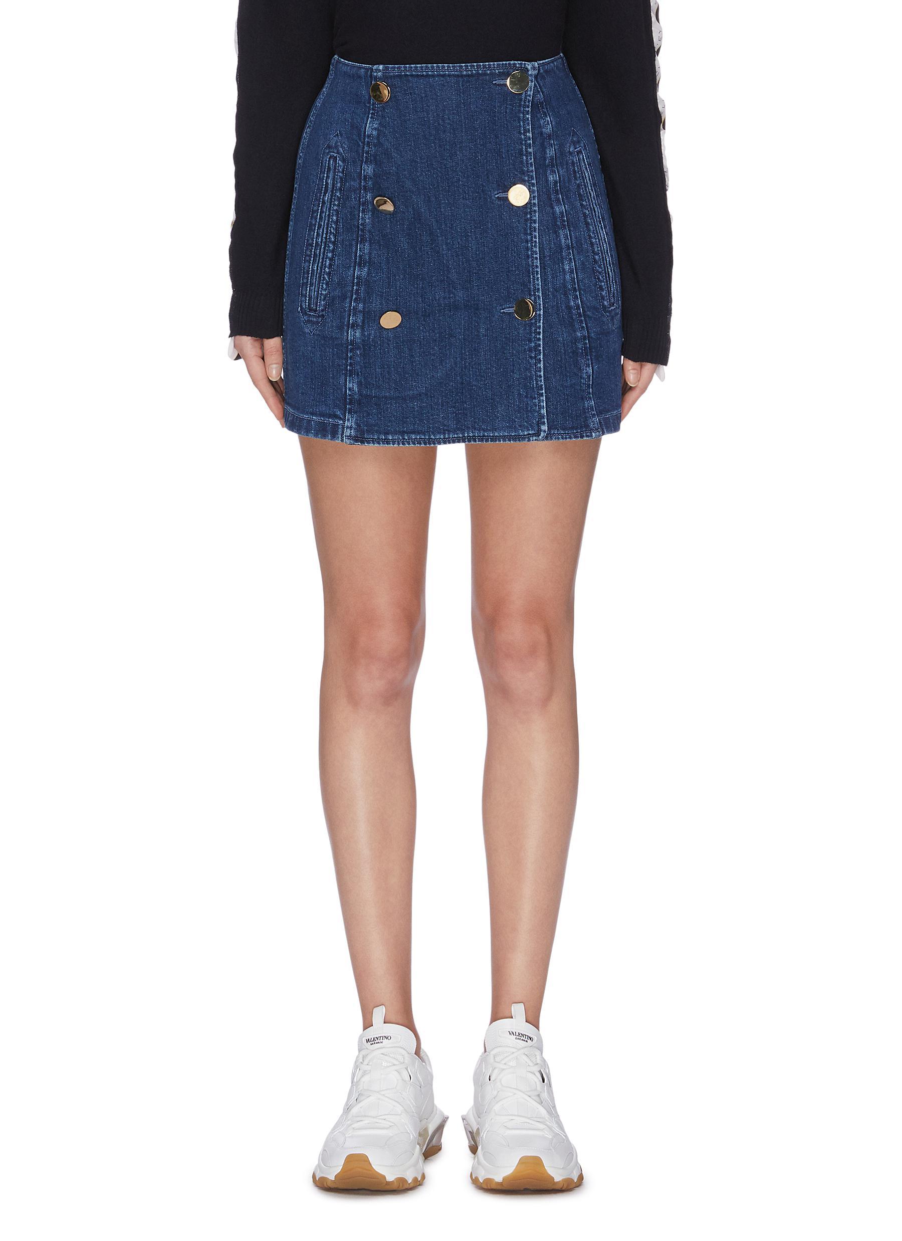 Buttoned denim skirt by Stella Mccartney