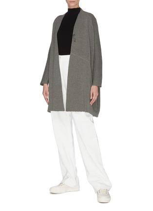 Figure View - Click To Enlarge - OYUNA - 'Juni' cashmere wool blend open cardigan