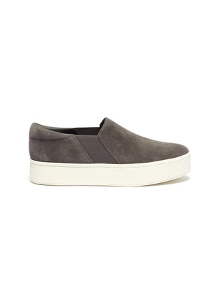 Main View - Click To Enlarge - VINCE - 'Warren' suede platform skate sneakers