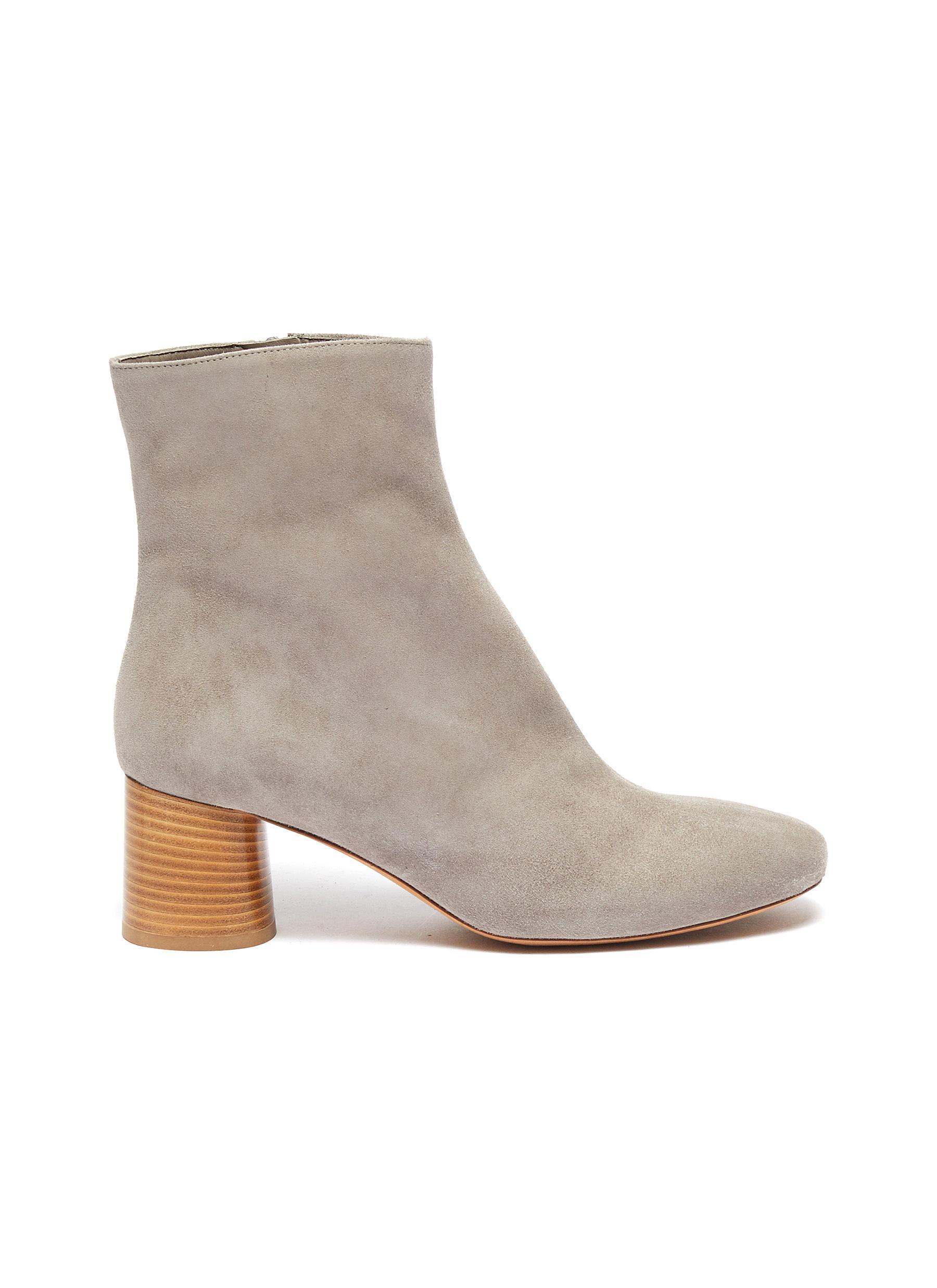 Tasha wooden heel suede ankle boots by Vince