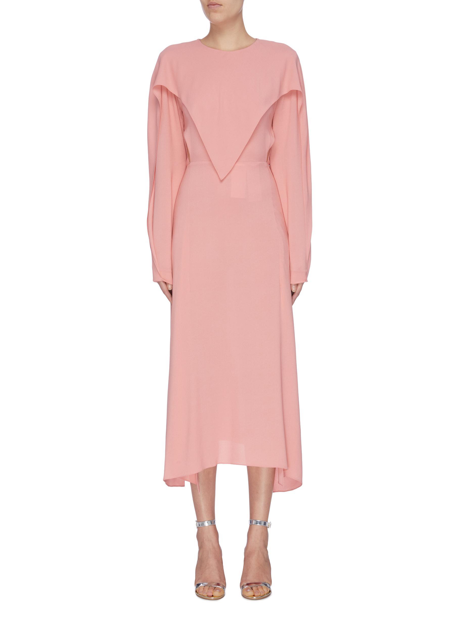 Drape collar panel crepe dress by Stella Mccartney