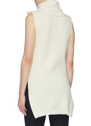 Back View - Click To Enlarge - STELLA MCCARTNEY - 'Military' sleeveless turtleneck sweater