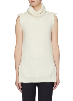 Main View - Click To Enlarge - STELLA MCCARTNEY - 'Military' sleeveless turtleneck sweater
