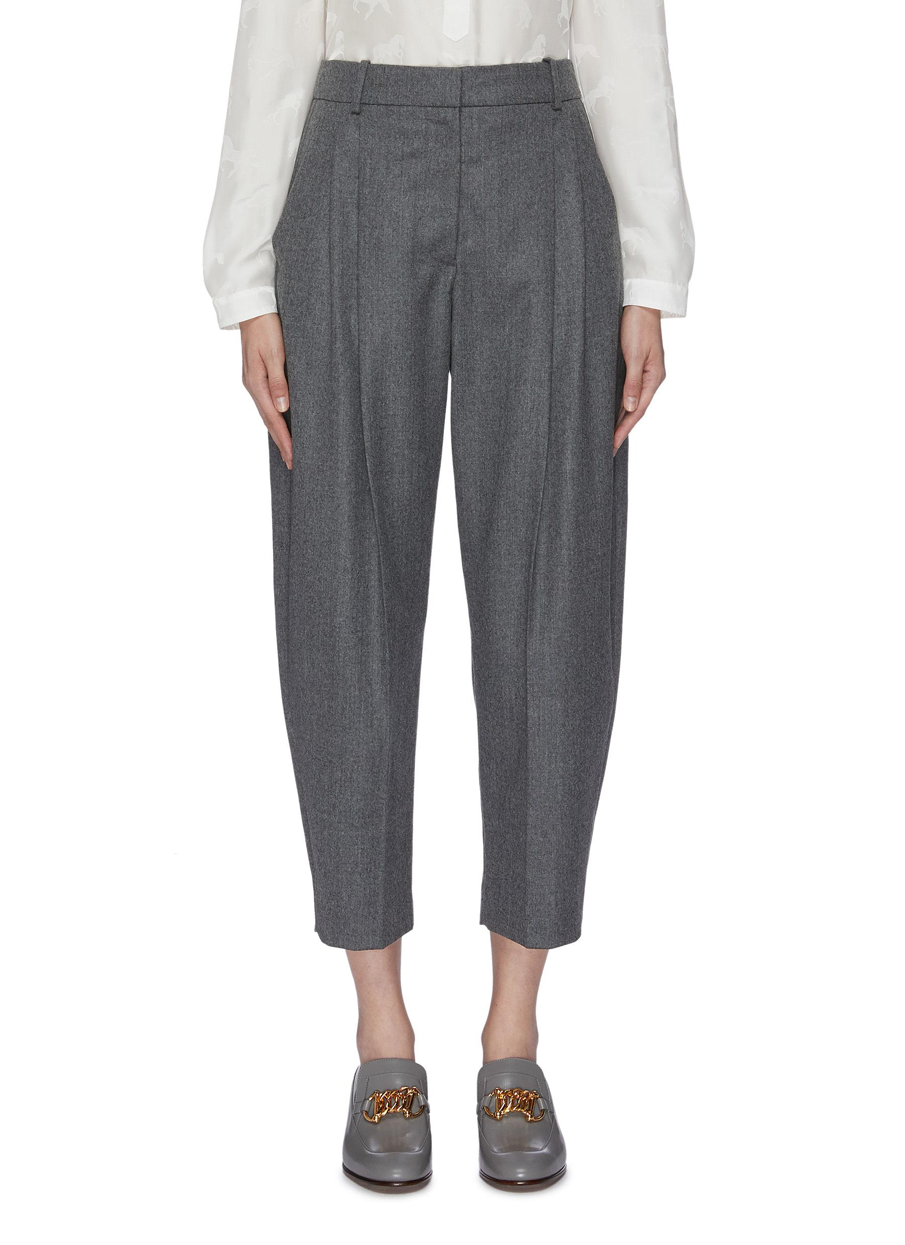 Pleated flannel pants by Stella Mccartney