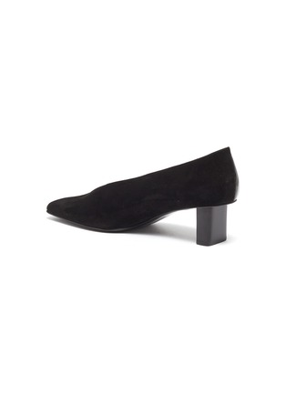 - MERCEDES CASTILLO - 'Alisandra' suede panel patent leather choked-up pumps