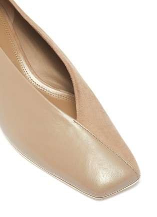 Detail View - Click To Enlarge - MERCEDES CASTILLO - Alisandra' leather panelled suede pumps