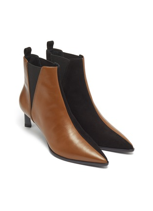 Detail View - Click To Enlarge - MERCEDES CASTILLO - 'Eletta' colourblock suede panel leather Chelsea boots