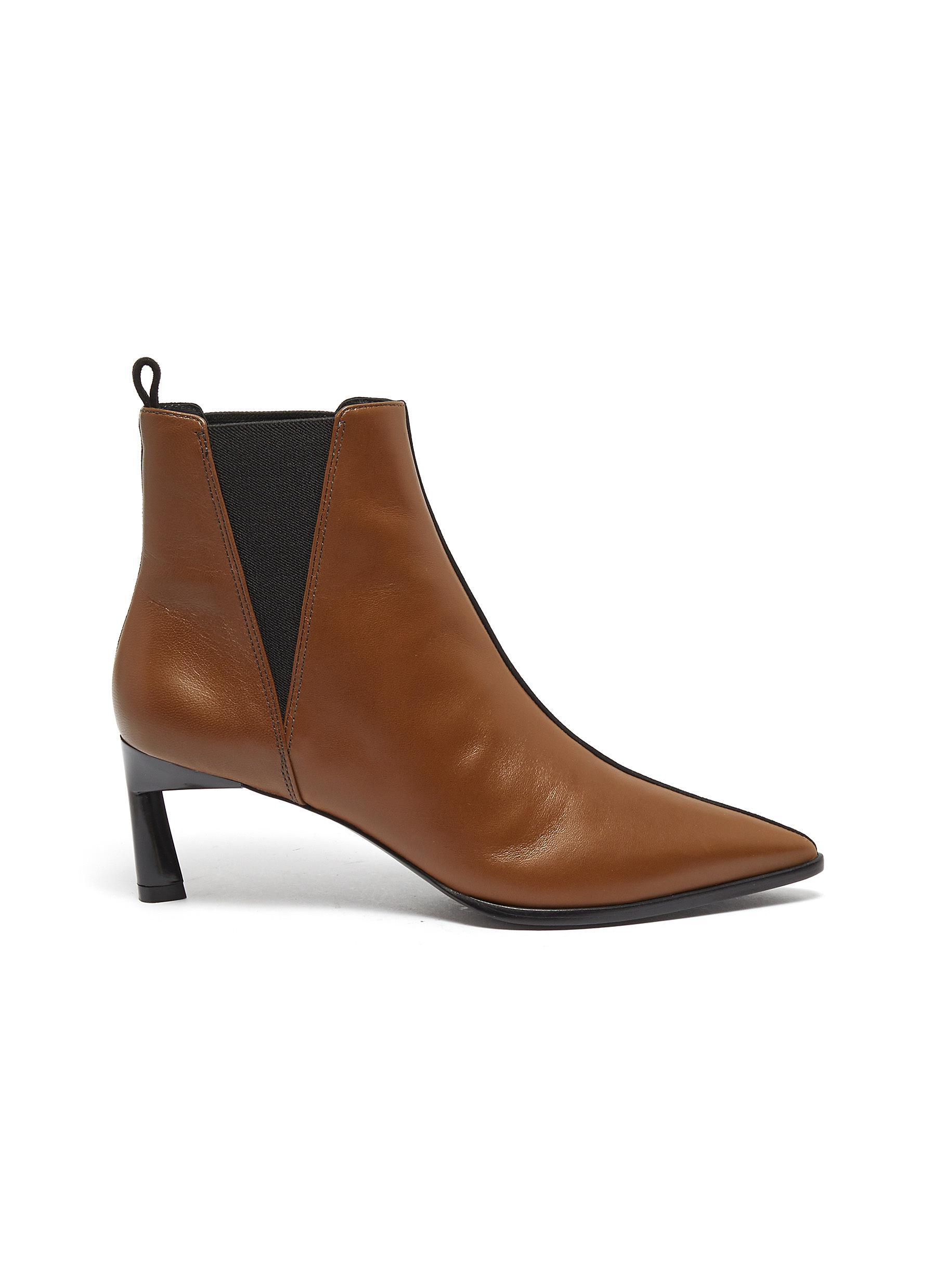 Eletta colourblock suede panel leather Chelsea boots by Mercedes Castillo