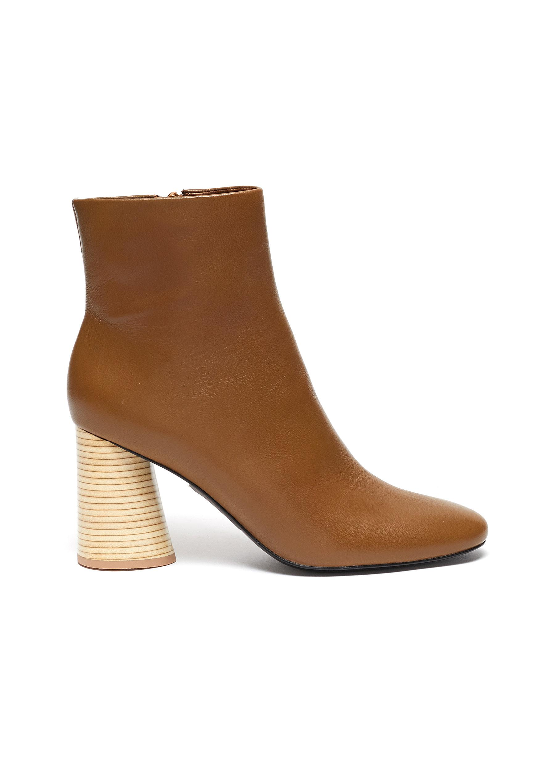 Tomara leather ankle boots by Mercedes Castillo
