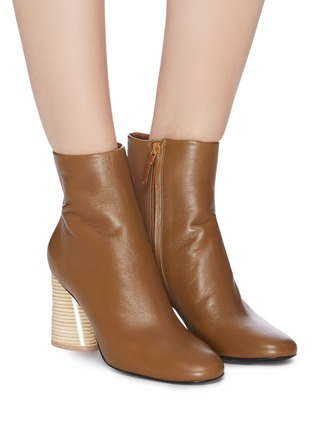 Figure View - Click To Enlarge - MERCEDES CASTILLO - 'Tomara' leather ankle boots
