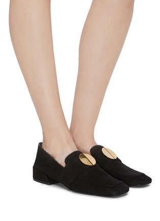 Figure View - Click To Enlarge - MERCEDES CASTILLO - 'Esmera' oversized nailhead suede loafers