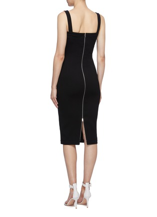 Back View - Click To Enlarge - VICTORIA BECKHAM - Sweetheart neckline sleeveless crepe dress