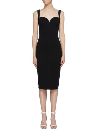 Main View - Click To Enlarge - VICTORIA BECKHAM - Sweetheart neckline sleeveless crepe dress