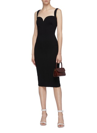 Figure View - Click To Enlarge - VICTORIA BECKHAM - Sweetheart neckline sleeveless crepe dress