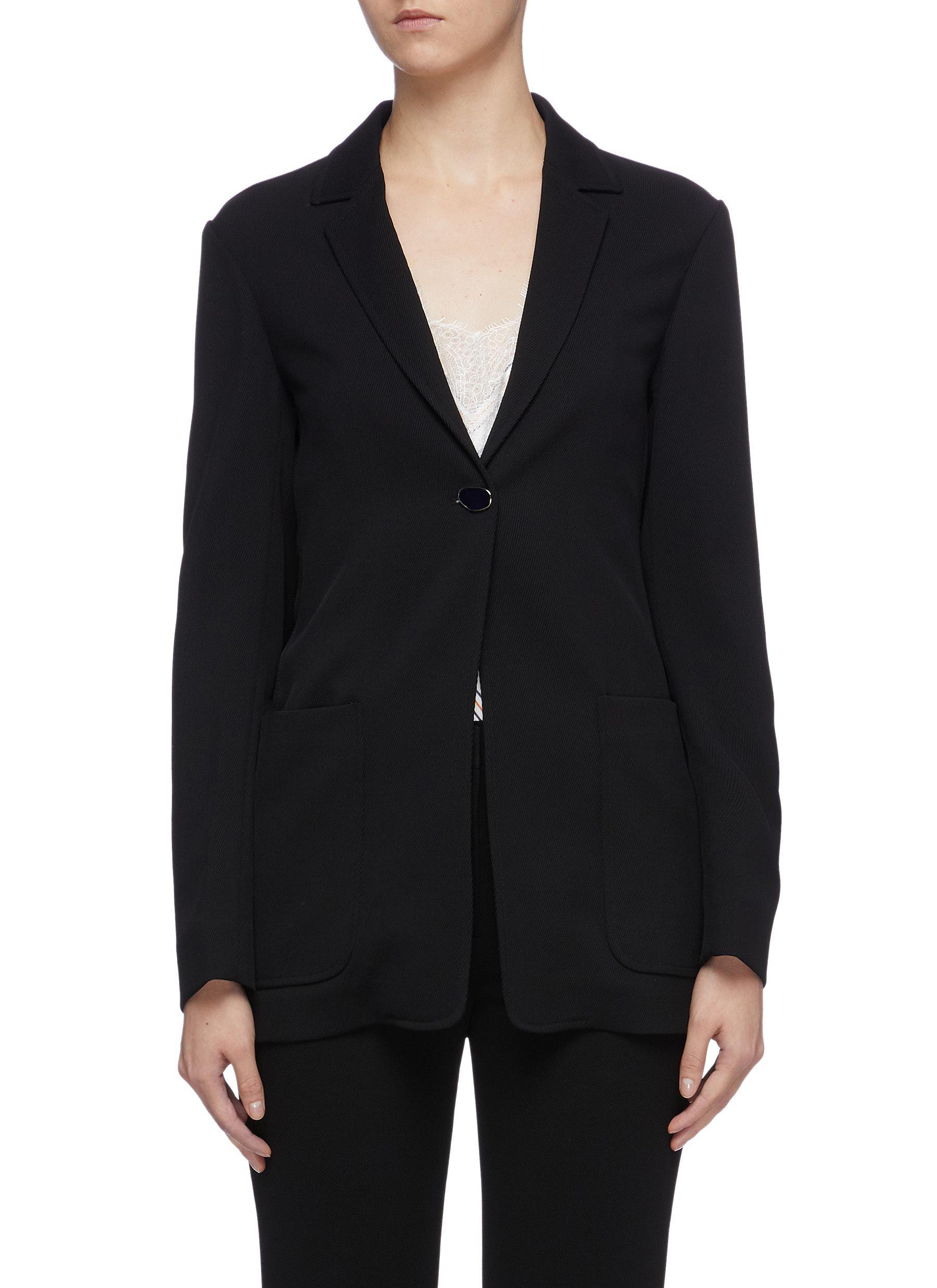 Patch pocket virgin wool twill blazer by Victoria Beckham