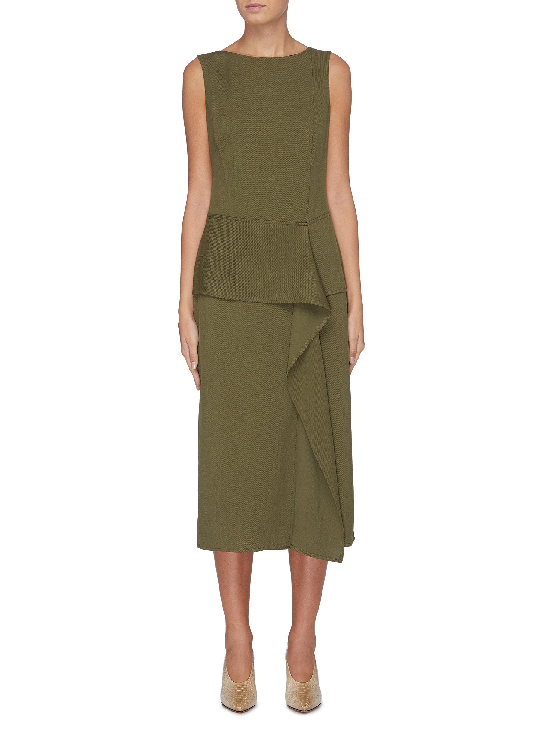 Drape panel sleeveless dress by Victoria Beckham