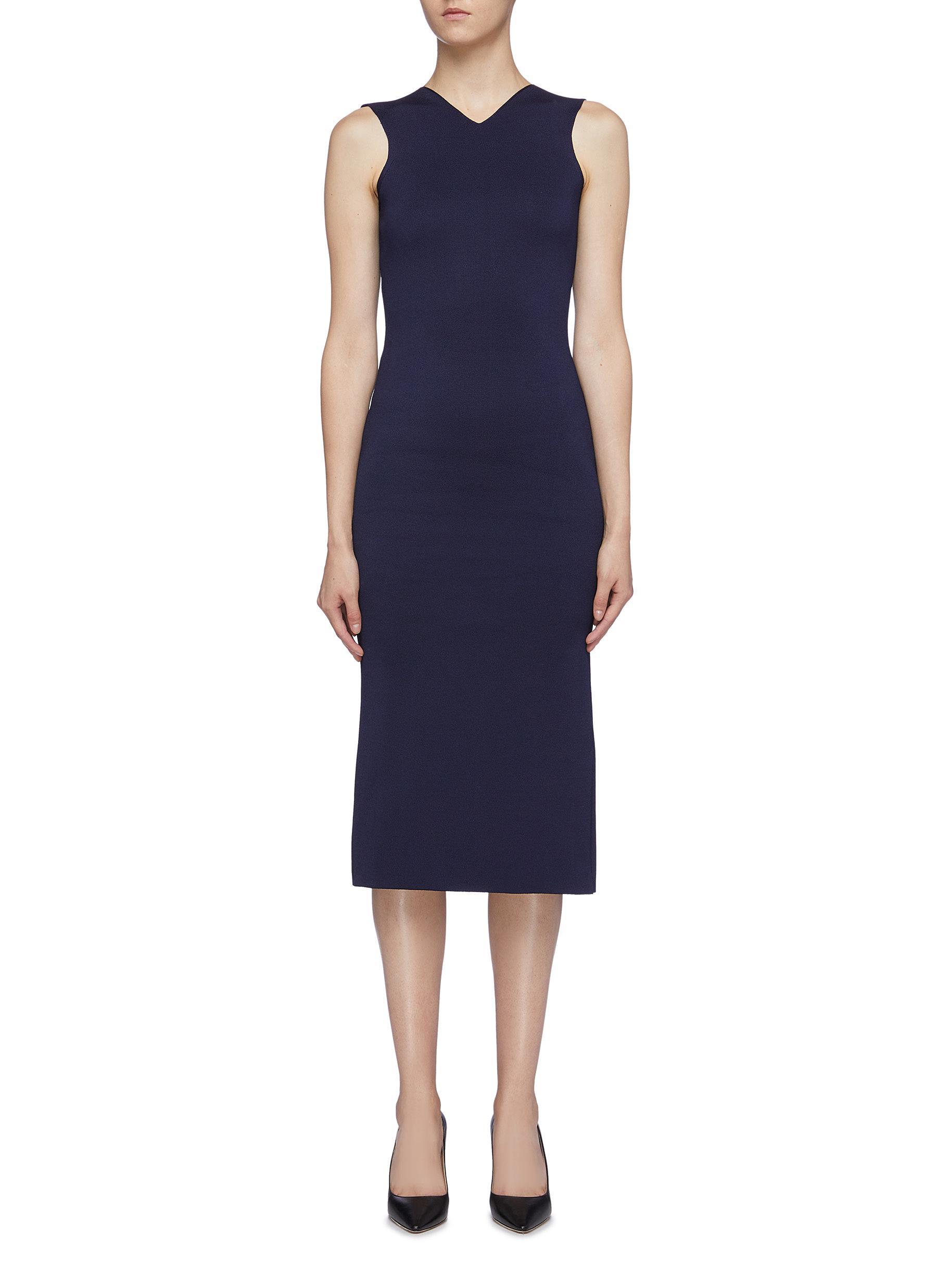 Colourblock panel sleeveless knit dress by Victoria Beckham