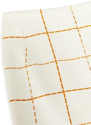 - VICTORIA BECKHAM - Grid print box pleated midi skirt