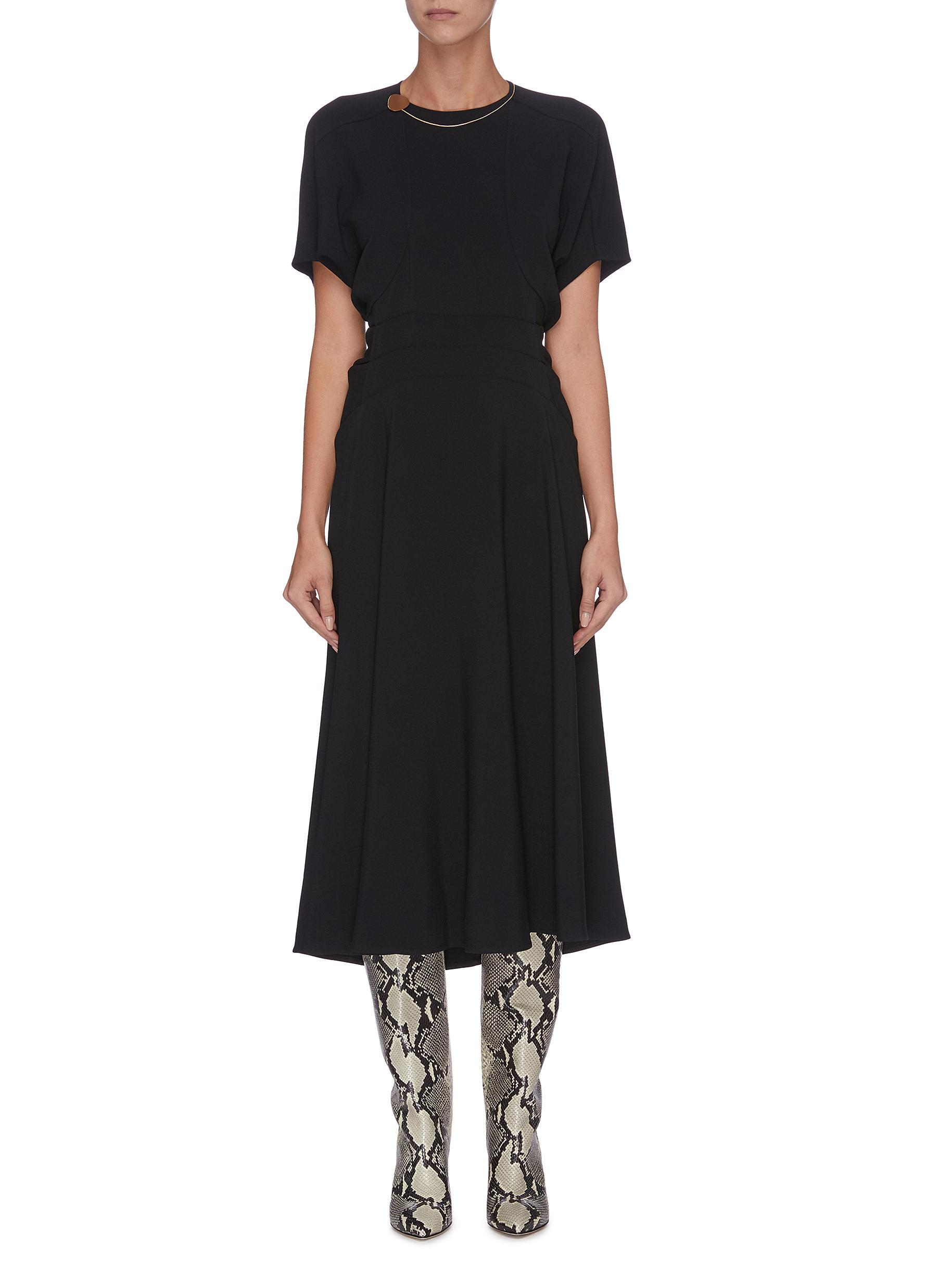 Batwing sleeves midi dress by Victoria Beckham