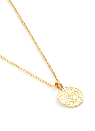 Detail View - Click To Enlarge - TOM WOOD - 'Viking Coin' 9k yellow gold plated silver pendant necklace