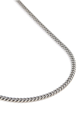 Detail View - Click To Enlarge - TOM WOOD - 'Curb' chain oxidised silver necklace