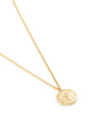 Detail View - Click To Enlarge - TOM WOOD - 'Coin Angel' 9k yellow gold plated silver pendant necklace
