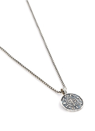 Detail View - Click To Enlarge - TOM WOOD - 'Viking Coin' oxidised silver pendant necklace