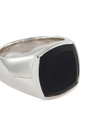 Detail View - Click To Enlarge - TOM WOOD - 'Cushion Onyx' silver signet ring – Size 55