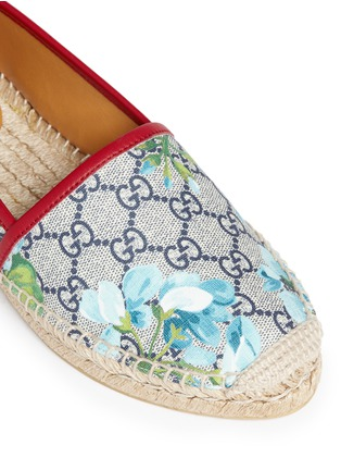 Detail View - Click To Enlarge - Gucci - 'GG Blooms' floral print espadrilles