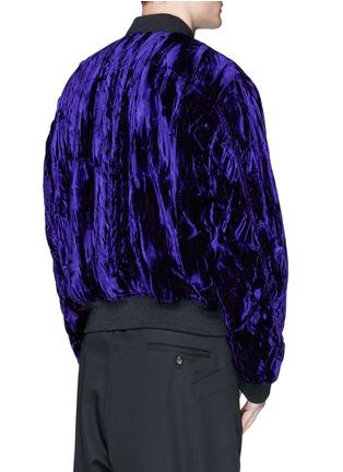 Back View - Click To Enlarge - Haider Ackermann - Crushed velvet bomber jacket