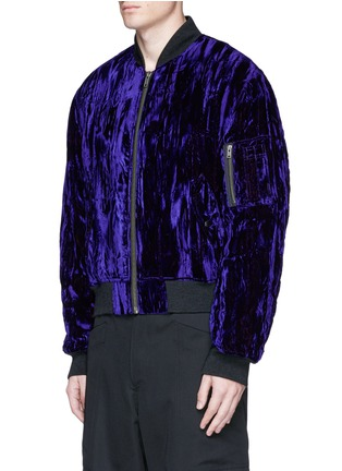 Front View - Click To Enlarge - Haider Ackermann - Crushed velvet bomber jacket