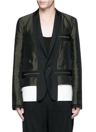 Main View - Click To Enlarge - Haider Ackermann - Contrast reverse panel soft blazer