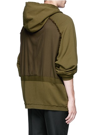 Back View - Click To Enlarge - Haider Ackermann - 'Perth' oversized zip hoodie