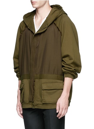 Front View - Click To Enlarge - Haider Ackermann - 'Perth' oversized zip hoodie