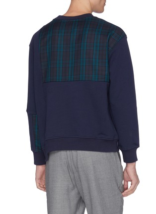 Back View - Click To Enlarge - UNCENSORED - Tartan plaid panel sweatshirt