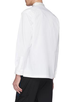 Back View - Click To Enlarge - UNCENSORED - Mandarin collar shirt