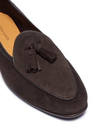Detail View - Click To Enlarge - BAUDOIN & LANGE - 'Sagan' tassel suede loafers