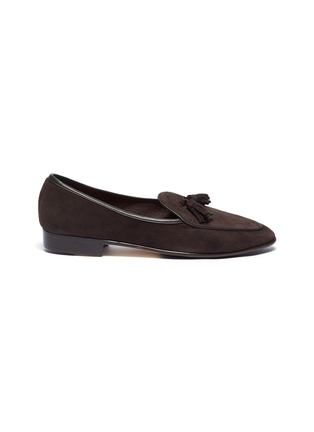 Main View - Click To Enlarge - BAUDOIN & LANGE - 'Sagan' tassel suede loafers