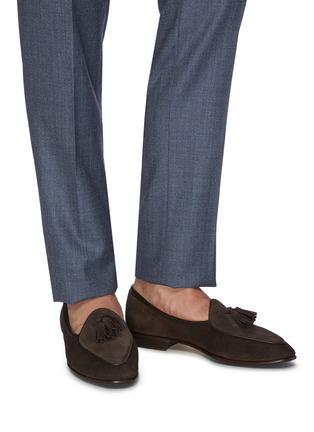 Figure View - Click To Enlarge - BAUDOIN & LANGE - 'Sagan' tassel suede loafers