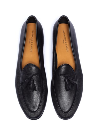 Detail View - Click To Enlarge - BAUDOIN & LANGE - 'Sagan' tassel leather loafers