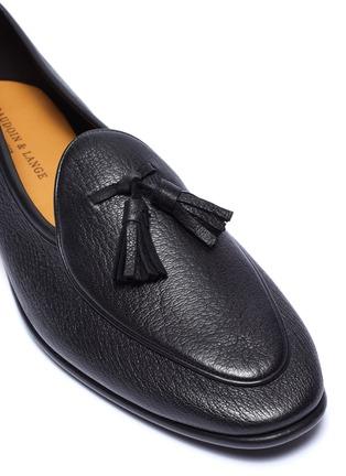 Detail View - Click To Enlarge - BAUDOIN & LANGE - 'Sagan' tassel leather loafers