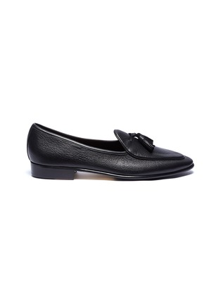 Main View - Click To Enlarge - BAUDOIN & LANGE - 'Sagan' tassel leather loafers