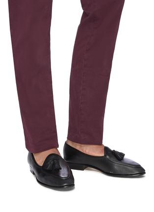 Figure View - Click To Enlarge - BAUDOIN & LANGE - 'Sagan' tassel leather loafers